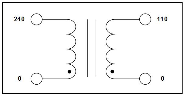 STEP DOWN TRANSFORMER, 1.5 KVA, PRIMARY 240 VAC, SECONDARY