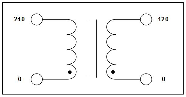 STEP DOWN TRANSFORMER, 0.6 KVA, PRIMARY 240 VAC, SECONDARY