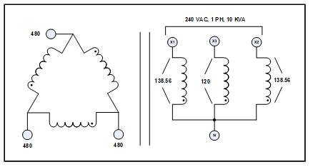 3 PH TO 1 PH TRANSFORMER FOR SOLAR PANELS, 10 KVA, P/N
