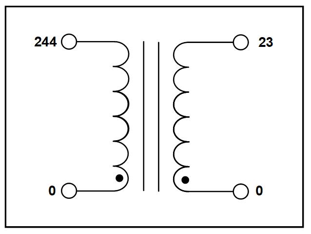 NEMA 1 SINGLE PHASE ISOLATION TRANSFORMER, 2.35 KVA, P/N