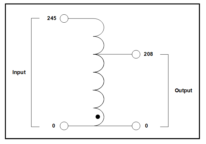 SINGLE PHASE BUCK BOOST TRANSFORMER, 11 KVA, INPUT 245