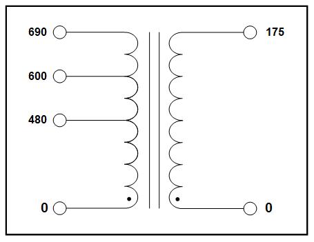SINGLE PHASE MULTI TAP TRANSFORMER, 2.0 KVA, P/N 19190N-1