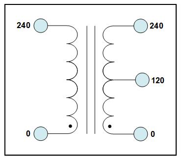 CENTER TAP TRANSFORMER, 50 KVA, PRIMARY 240 VAC, SECONDARY