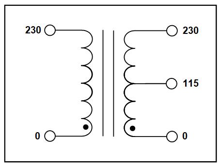 CENTER TAP TRANSFORMER, 30 KVA, PRIMARY 230 VAC, SECONDARY