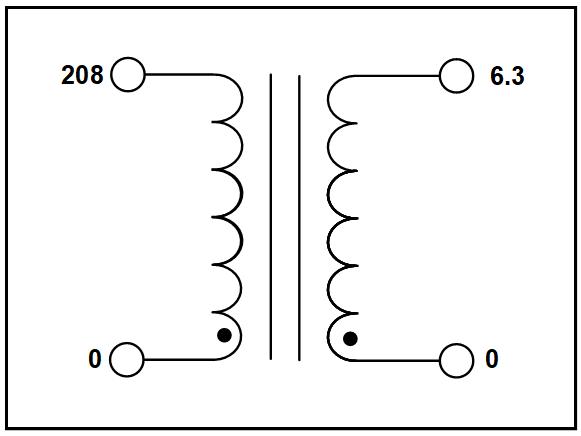 SINGLE PHASE ISOLATION TRANSFORMER, 0.63 KVA, P/N 19539