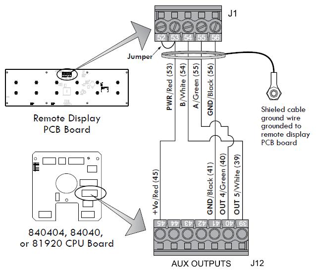 XL LED Remote Display > Wiring