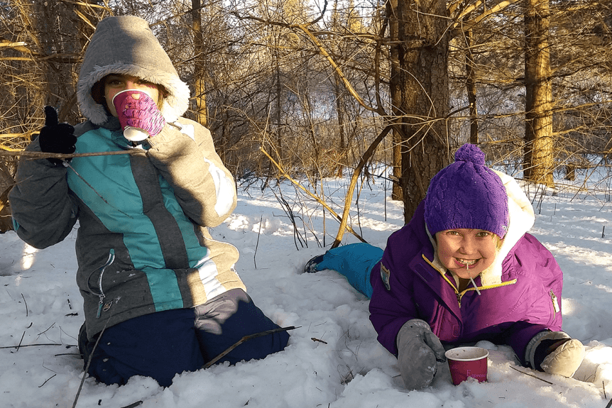 image of kids in the snow
