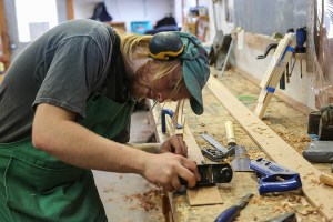 Image of staff in the boatshop at Lake Champlain Maritime Museum