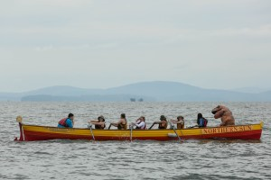 A group rowing in the row-a-thon