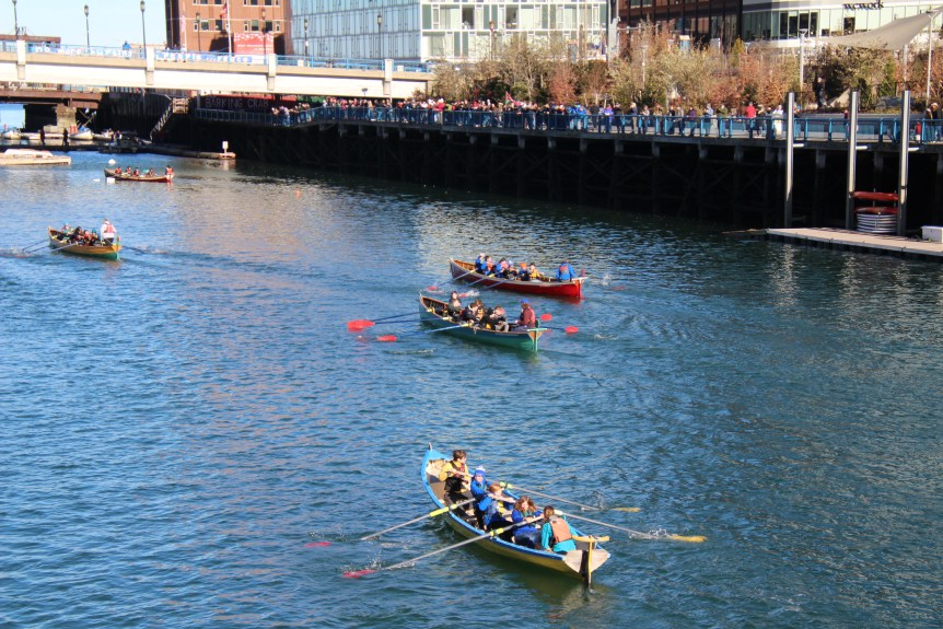 Youth rowers race in Boston