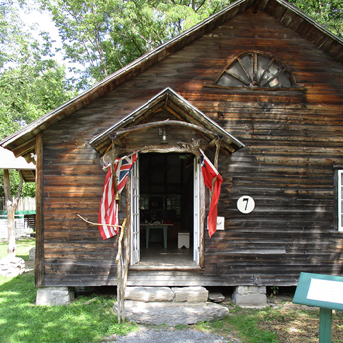 Exterior view of the Roost cabin