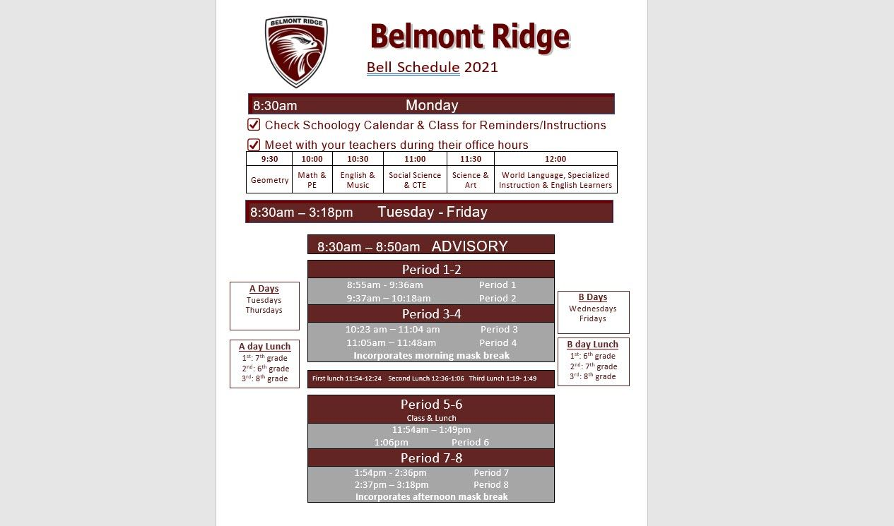 hight resolution of Belmont Ridge Middle School / Overview