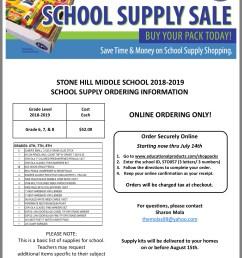 Eagles Landing Middle School 7th Grade Supply List - School Style [ 1849 x 1536 Pixel ]