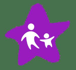 icône étoile adulte tenant la main d'un enfant