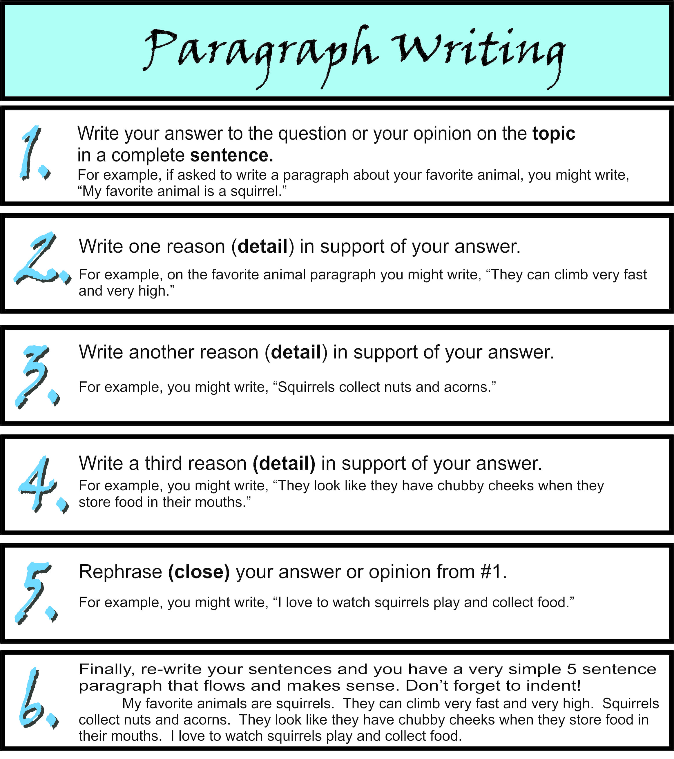 Simple Paragraph 5 Sample Paragraphs For Reading Test In