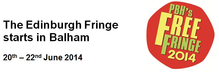 Balham Free Fringe is back this June  6