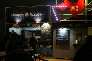 Halloumi-shaped insanity from Moony's food stand designed by artist & animator Izemo