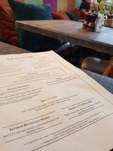 The Royal Oak Twickenham Sunday Lunch menu