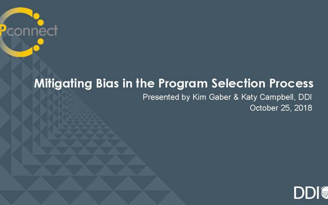 Removing Bias in Leadership Development Program Selection