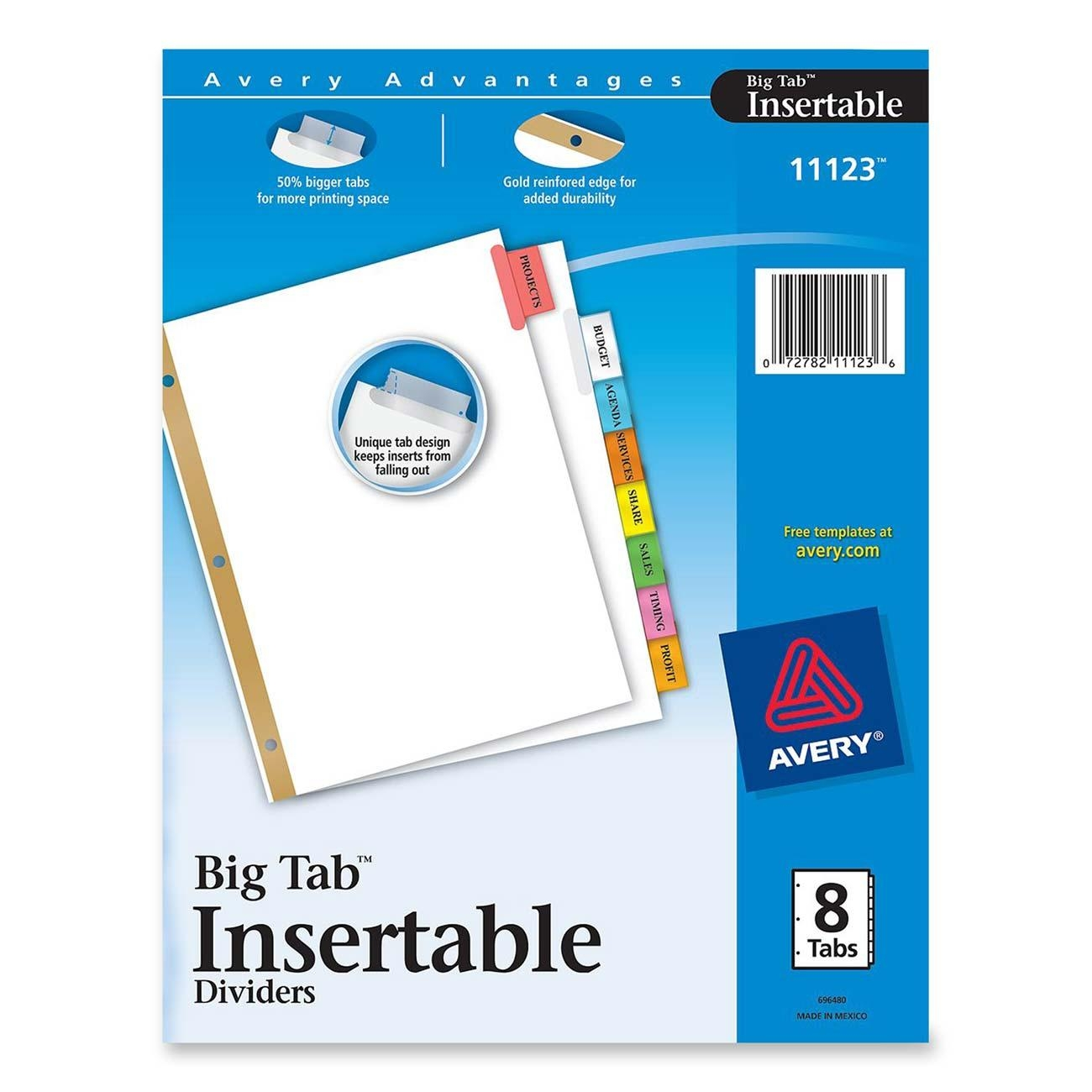 Avery WorkSaver Big Tab Insertable Tab Divider LD Products