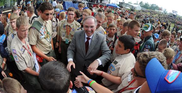 Elder Neil L Andersen Visits National Scout Jamboree