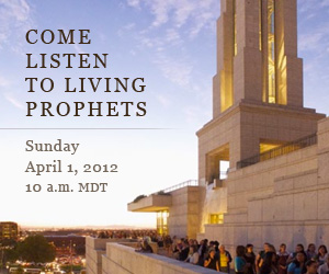 Come listen to living prophets