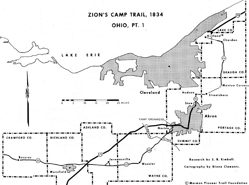 Zion's Camp March from Ohio to Missouri, 1834