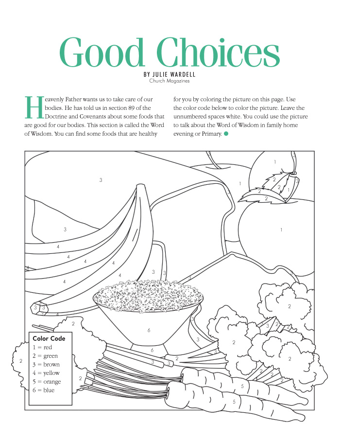 Coloring Picture Of Good And Bad Choices Coloring Pages