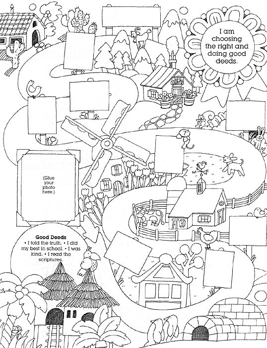 Free coloring pages of children doing good deeds