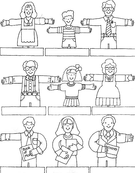 family fingers Colouring Pages