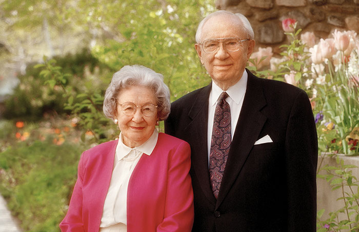 Gordon B. Hinckley and Marjorie Hinckley