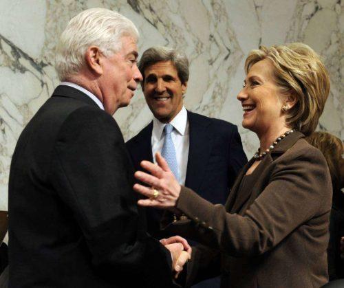 Chris Dodd and Hillary Clinton