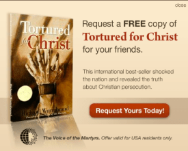 Receive a free copy from The Voice of the Martyrs.