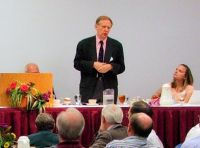Richard Bushman addressing the John Whitmer Historical Association in 2011