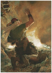 The Brother of Jared Sees the Finger of the Lord, by Arnold Friberg