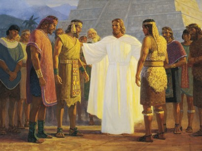 Christ with Three Nephite Disciples, by Gary L. Kapp