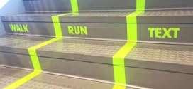 "Utah Valley University Creates ""Texting Lane"" on Busy Staircase"