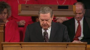 """Elder Holland offered the invocation, and said, """"Indeed it seems to us """"Savior"""" may be the word we heard most coming from his lips."""""""