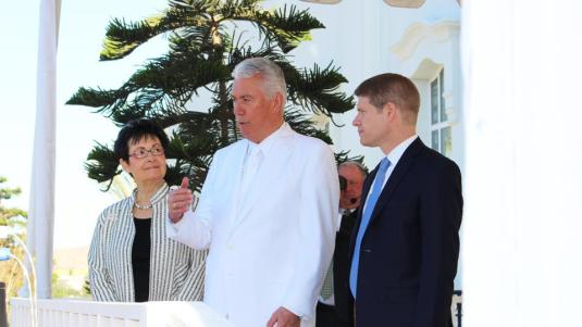 President Dieter F. Uchrdorf dedicated the Tijuana Mexico city temple on December 13, 2015.