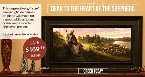 Dear to the Heart of the Shepherd (Framed 37 x 20)