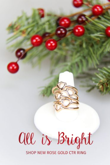 rose gold ctr ring christmas