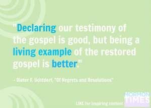 Sharing our testimonies