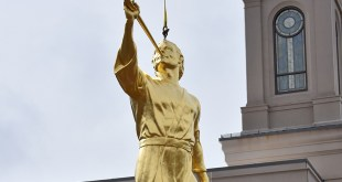 Angel Moroni Placed on Star Valley Wyoming Temple
