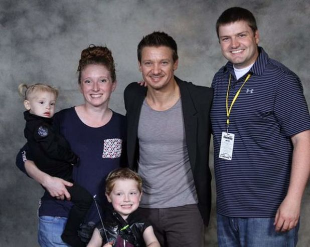 Kenzie and Jeremy Renner
