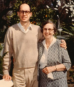 President Eyring with his mother.