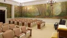 Instruction room in the Philadelphia Pennsylvania Temple.