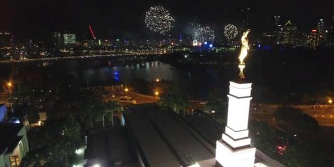 Watch Fun Firework Footage from LDS Brisbane Temple