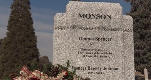 A Look at President Monson's Headstone & Monument