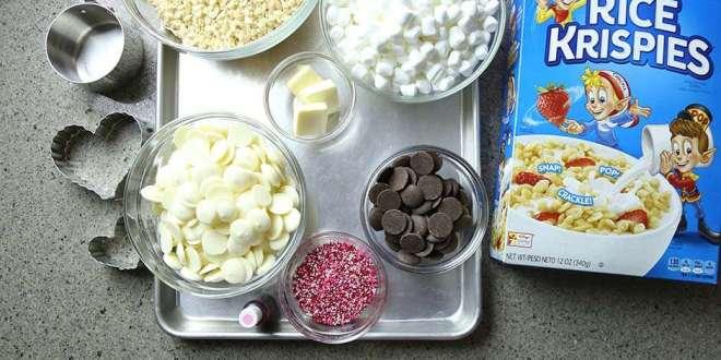 Easy Valentine's Day Rice Krispie Treats