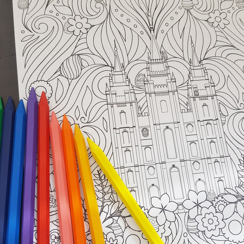 this lds easter coloring page is festive & free  lds daily